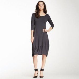 EILEEN FISHER Out After Dark Midi Dress Navy M